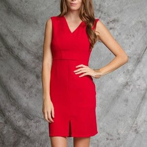 Ya Los Angeles RED WOVEN DRESS